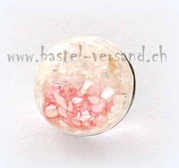 Click Button 18mm Muschel rosa