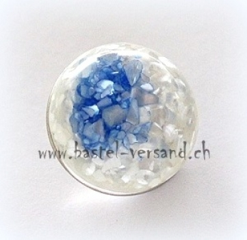 Click Button 18mm Muschel blau