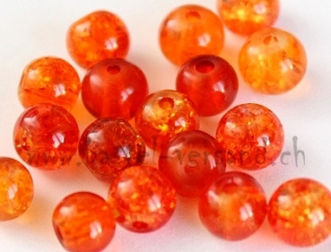 Crackle 6mm orange