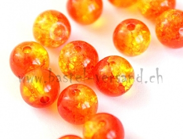 Crackle 6mm orange/gelb