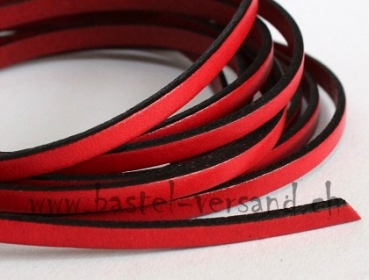 Flachleder 5mm rot