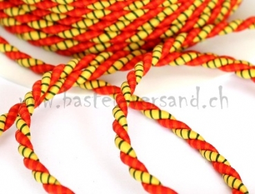 Kordel 4mm gelb/orange