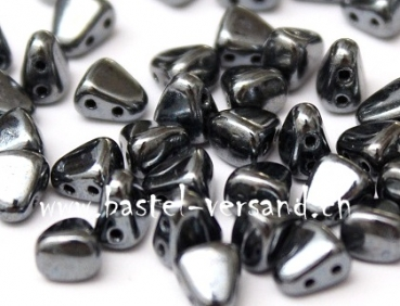 Matubo Czech Glass Beads NIB-BIT 6x5mm hematite