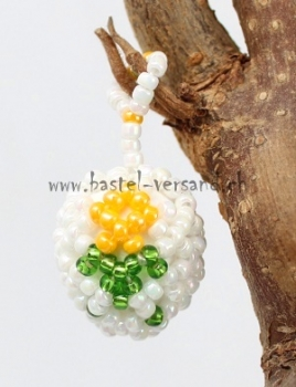 Sonderposten Weiß Porzellan Keramik Perlen Kugel Blau Blume Muster Beads 12mm