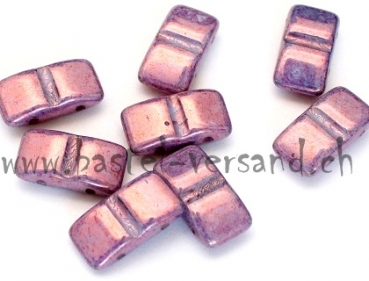 Rectangles 9 x 17mm Perle rotlila