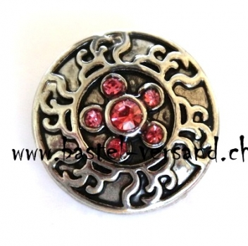 Click Button 20mm Strass rosa