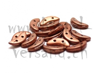 Crescent 2 x 10mm saturated metallic copper