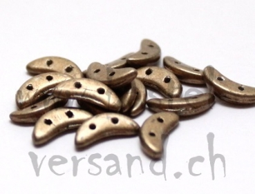 Crescent 2 x 10mm saturated metallic khaki