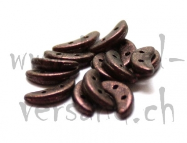 Crescent 2 x 10mm polycrome rose