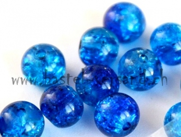 Crackle 6mm blau