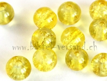 Crackle 6mm gelb