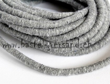 Knitted Cord 5mm grau