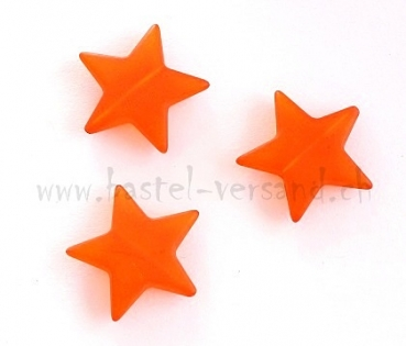 Acryl Stern gefrostet 2,8cm orange