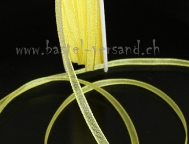 Organza 3mm lemon