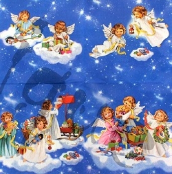 Serviette angels with toys