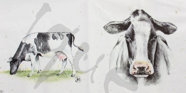 Serviette cow
