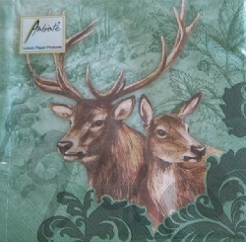 Serviette deer couple