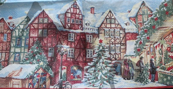 Serviette winterly christmas market