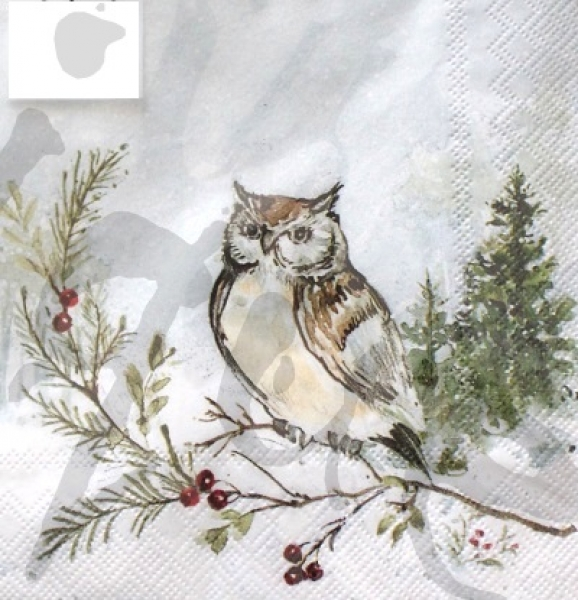Serviette woodland owl