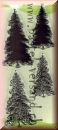 Leane Creatief stamps Christmas trees