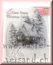 Nellie's Clear Stamp snowy house 2
