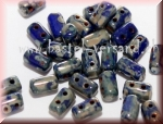 Rulla 3 x 5mm Opaque blue silver picasso