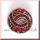Click Button 20mm Strass rot