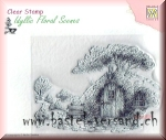 Nellie's Clear Stamp  Scene with old house