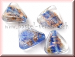 Glasperle 18 x 18mm blau