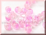 Crackle 4mm rosa/transparent