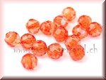 Schliffperle 6mm orange