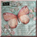 Serviette butterfly poetry